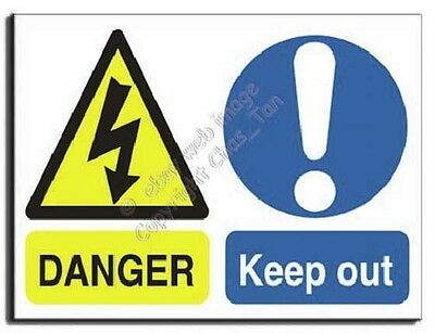 Danger - Keep Out Sign - Adhesive Vinyl - 400x300mm (MU-009-AM)