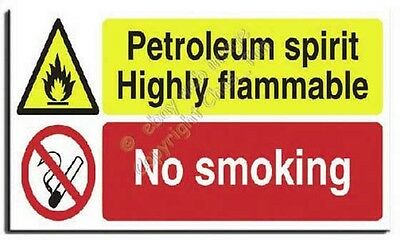 Petrol Spirit Mix - No Smoking Sign - Adh.Vinyl -600x350mm(MU-028-AU)