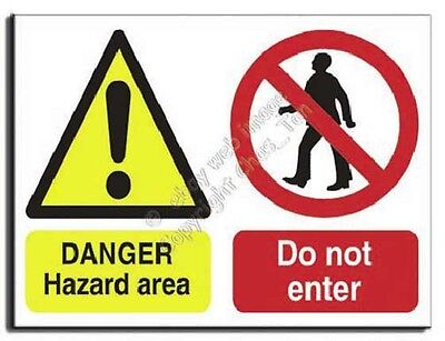 Hazard Area - Keep Out Sign Semi Rigid - 400x300mm (MU-005-RM)