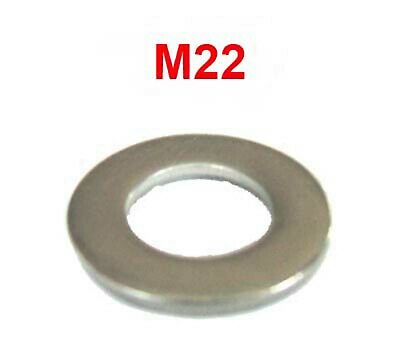 M22 Stainless Steel Washers 22mm Flat Washers (23mm I.D x 38mm O.D) x10
