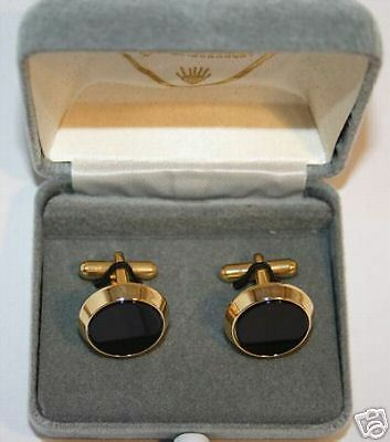 New Black & Gold Boxed Cufflink Set