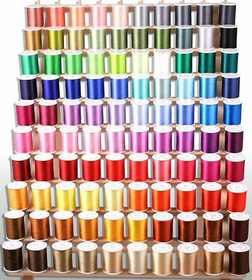100 MACHINE EMBROIDERY THREADS 4 Brother FREE SHIPPING