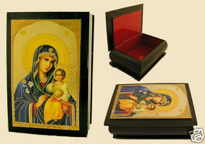 Russian ICON BOX  MARY ETERNAL BLOOM MADONNA