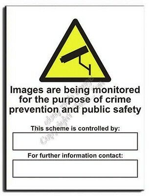 Images Monitored For Crime / Safety By… Sign - Adh.Vinyl - 300x400(WA-152-AM)
