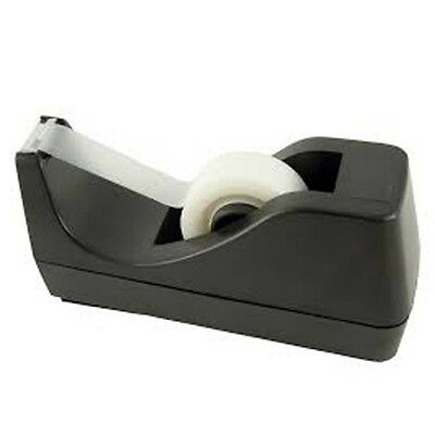 Small Heavy Duty Plastic Adhesive Tape Dispenser Non Slip Base 33m KF01294