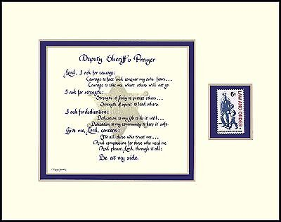 ST014S -DEPUTY SHERIFF'S PRAYER - (Blue Lives Matter""