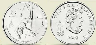 Unc Canada Olympic 2008 Freestyle Skiing Quarter~F/S!!!