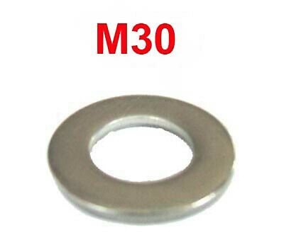 M30 Stainless Steel Washers 30mm Stainless Flat Washers (31mm I.D x 55mm O.D) x4