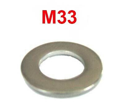 M33 Stainless Steel Washers 33mm Flat Washers (34mm I.D x 59mm O.D) x4
