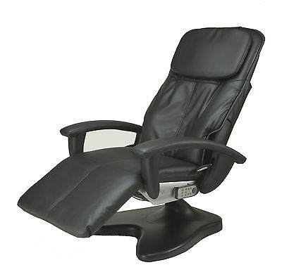 BLACK HT-095 Robotic Human Touch Power Recline Electric Massage Chair Recliner