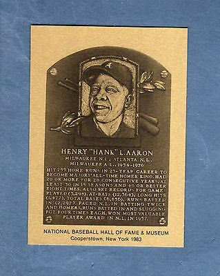 Hall of Fame Metallic Plaque-card: HANK AARON, Braves-Brewers (1 of 1,000)