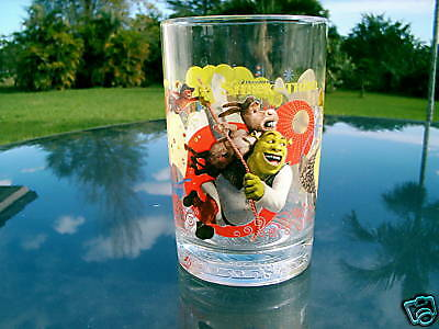 "SHREK THE THIRD MCDONALD'S GLASS ""BEWARE! OGRE'S"" NICE"