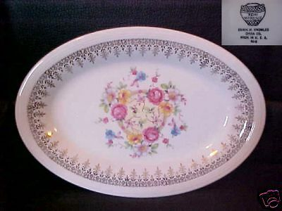KNOWLES,EDWIN PATTERN # KNO123 OVAL RELISH 8 3/8""