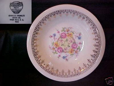 KNOWLES, EDWIN # KNO123 COUPE CEREAL BOWL 6 1/4""
