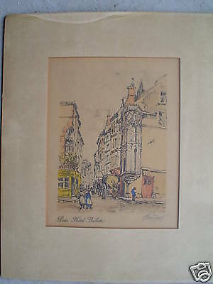 1920s SIGNED Barclay Print Paris Hotel Barbette LOOK