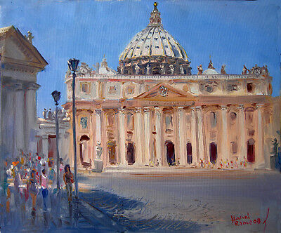 Rome, Piazza San Pietro, Italy, cityscape, giclee print on canvas by Star