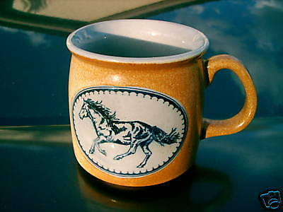 Rare Speckled Gold Galloping Horse Mug Two Toned Nice