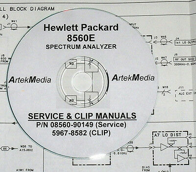 HP 8560E Service Manual & CLIP (Schematics) 2 Volumes