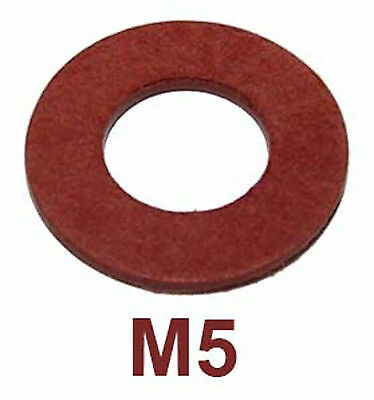 M5 Red Fibre Sealing Washers (5mm Red Fiber washers) x50
