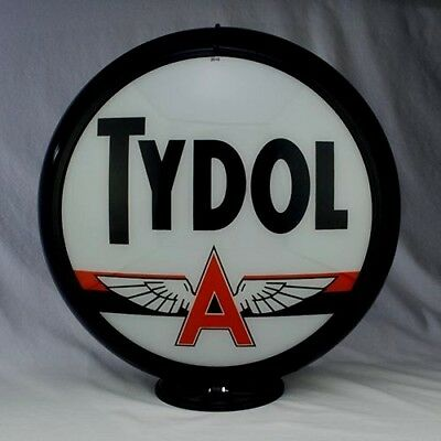 Tydol Gas Pump Globe Vintage Replica Glass Lenses Garage Shop Man Cave Decor T