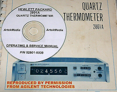 HP  2801A Quartz Thermometer Ops & Service Manual