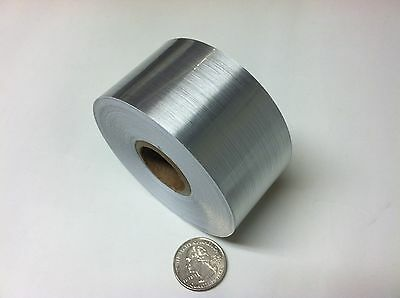 Brushed Metal Vinyl Tape, 2 1/2 inch x 25 Feet,  Silver