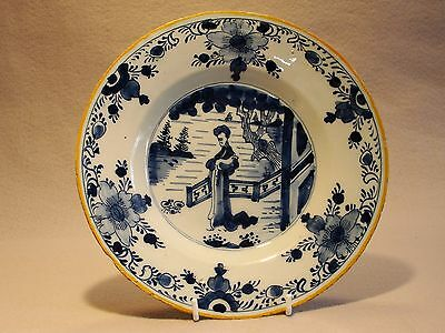 Delft Plate Dutch with figure