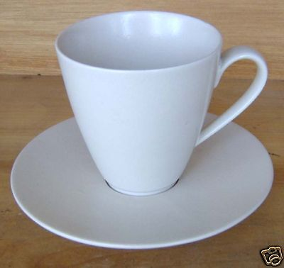 Design House Stockholm White Mid Century Cup & Saucer