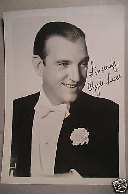 """Autographed 5x7"""" Photo - Swing Bandleader CLYDE LUCAS c1940"""