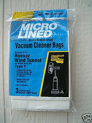 43655 WindTunnel Upright Vacuum Cleaners 150 Hoover Allergy Vacuum Type Y Bags