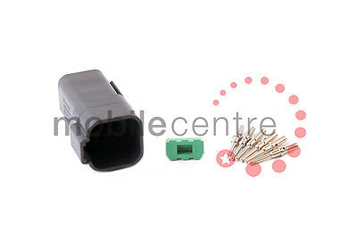 Deutsch DT 04 6P plug W6P wedgelock DT04-6P contacts for 0.5mm > 1.0mm CSA wire