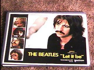 Let It Be  '70 Lobby Card #7 Beatles Rare