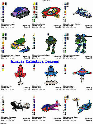 SPACESHIPS/OUTERSPACE (4x4) MACHINE EMBROIDERY DESIGNS