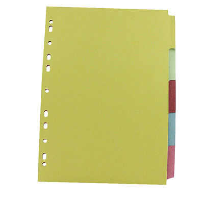 3x Packs A4 Coloured 5 Part Index Tab Subject Folder File Dividers KF26081