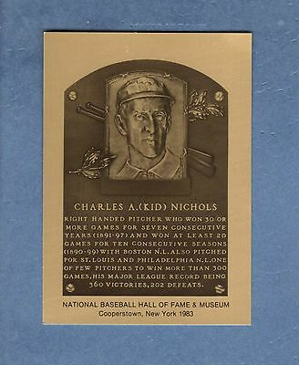 Hall of Fame Metallic Plaque-card: CHARLES KID NICHOLS, Braves (1 of 1,000 made)