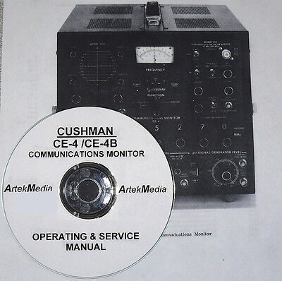 CUSHMAN CE-4 / CE-4B  OPERATING & SERVICE MANUAL