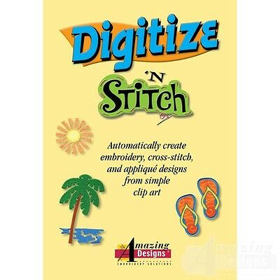 Amazing Designs - DIGITIZE N STITCH DIGITIZING SOFTWARE + FREE GIFT