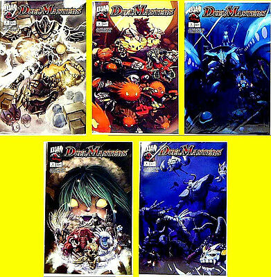 Duel Masters #1 5 Comic Book Set Bagged wInsert Cards Dreamwave WOTC H7 Amricons