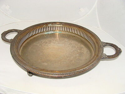 W S Blackinton Silver Plated Handled Serving Tray