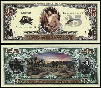 WILD WEST BLAZING COLTS NOVELTY BILL - Lot of 2 Bills