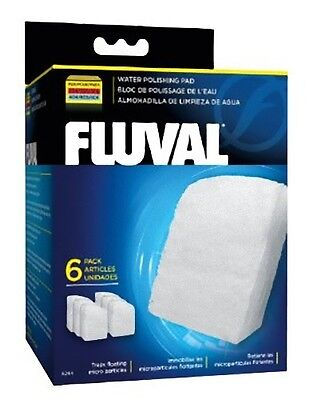 Fluval Fine Filter Pads 6 pack 304 305 306 404 405 406 Genuine Polishing Poly