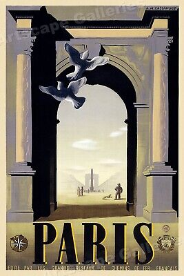 16x24 Vintage Style French Travel Poster Summer in Normandy France 1930s