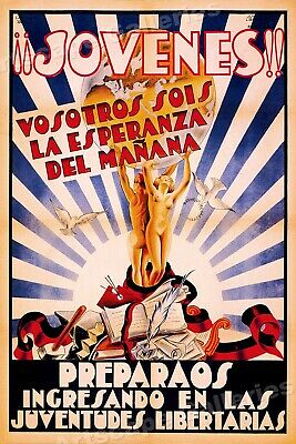 """Jovenes!""  You are the Hope of Tomorrow! 1936 Spanish Civil War Poster - 24x36"
