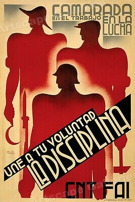 """/""""Farmers Your enemies Made you Work/"""" 1930s Spanish Civil War Poster 16x24"""