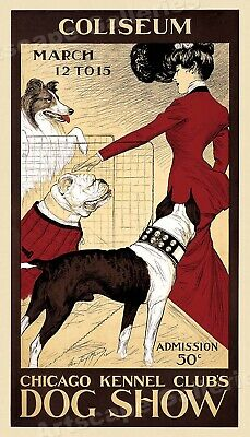 """1902 """"Chicago Kennel Club""""  Classic Dog Show Poster - 14x24"""