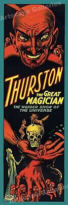1914 Thurston The Great Magician - Vintage Style Magic Poster - 12x36