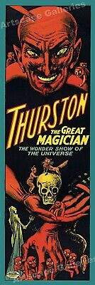 Thurston The Great Wonder Show 1914 - Classic Magic Show Poster 8x24