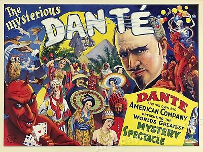 """The Mysterious Dante"" - Vintage Style 1930s Magic Poster - 18x24"