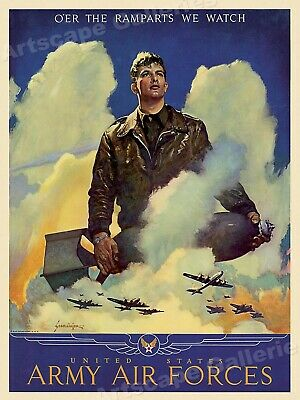 US Army Air Force World War II Historic Poster 18x24