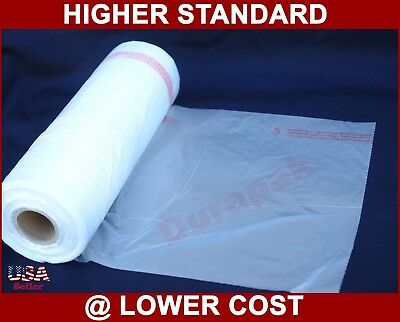 "4 Rolls 11X14"" HDPE Clear Produce Grocery Supermarket Fruits Food Vegetable Bag"